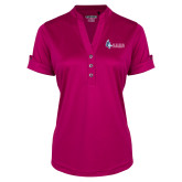 Ladies Ogio Deep Berry Fashion Henley-Institutional Logo