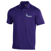 Under Armour Purple Performance Polo-Primary Logo