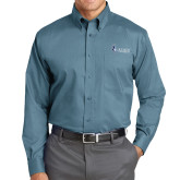 Red House Teal Long Sleeve Shirt-Institutional Logo