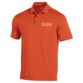 Under Armour Orange Performance Polo-University Wordmark
