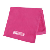 Pink Beach Towel-Keiser University Seahawks
