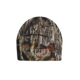 Mossy Oak Camo Fleece Beanie-University Wordmark