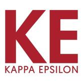 Large Decal-KE Kappa Epsilon Stacked, 12in Tall