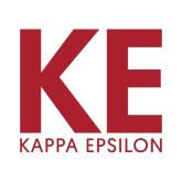 Small Decal-KE Kappa Epsilon Stacked, 6in Tall