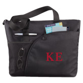 Excel Black Sport Utility Tote-One Color Greek Letters