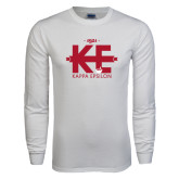 White Long Sleeve T Shirt-Primary Mark w/out Text