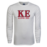 White Long Sleeve T Shirt-Greek Letters Alumni Year Personalized