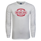 White Long Sleeve T Shirt-Bid Day Personalized Year