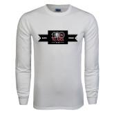 White Long Sleeve T Shirt-100 Years Logo