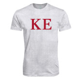 Next Level Heather White Tri Blend Crew-One Color Greek Letters