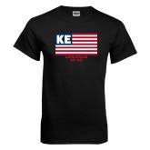 Black T Shirt-American Flag