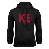 Black Fleece Hoodie-KE Kappa Epsilon Stacked