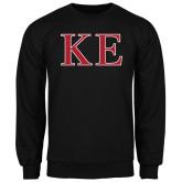 Black Fleece Crew-Two Color Greek Letters