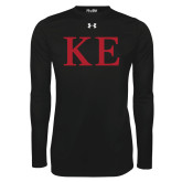 Under Armour Black Long Sleeve Tech Tee-One Color Greek Letters