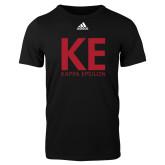 Adidas Black Logo T Shirt-KE Kappa Epsilon Stacked