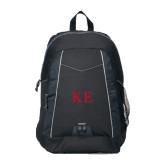 Impulse Black Backpack-One Color Greek Letters