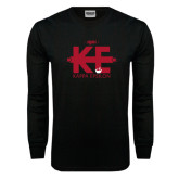 Black Long Sleeve TShirt-Primary Mark w/out Text