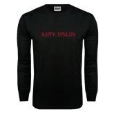 Black Long Sleeve TShirt-Kappa Epsilon Flat