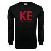 Black Long Sleeve TShirt-KE Chapter Name Personalized