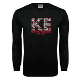 Black Long Sleeve TShirt-KE Roses