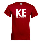 Cardinal T Shirt-KE Kappa Epsilon Stacked