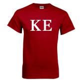 Cardinal T Shirt-One Color Greek Letters