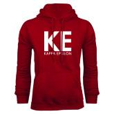 Cardinal Fleece Hoodie-KE Kappa Epsilon Stacked