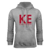 Grey Fleece Hoodie-KE Kappa Epsilon Stacked
