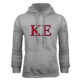 Grey Fleece Hoodie-Two Color Greek Letters