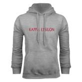 Grey Fleece Hoodie-Kappa Epsilon Flat