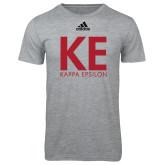 Adidas Sport Grey Logo T Shirt-KE Kappa Epsilon Stacked