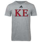 Adidas Sport Grey Logo T Shirt-Two Color Greek Letters