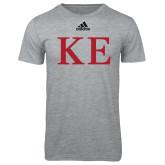 Adidas Sport Grey Logo T Shirt-One Color Greek Letters