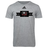 Adidas Sport Grey Logo T Shirt-100 Years Logo