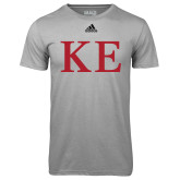 Adidas Climalite Sport Grey Ultimate Performance Tee-One Color Greek Letters