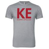 Next Level Premium Heather Tri Blend Crew-KE Kappa Epsilon Stacked