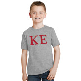 Youth Grey T-Shirt-One Color Greek Letters
