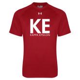 Under Armour Cardinal Tech Tee-KE Kappa Epsilon Stacked