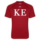 Under Armour Cardinal Tech Tee-One Color Greek Letters