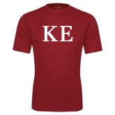 Performance Cardinal Tee-One Color Greek Letters