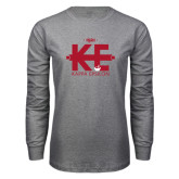 Grey Long Sleeve T Shirt-Primary Mark w/out Text