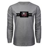 Grey Long Sleeve T Shirt-100 Years Logo