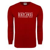 Cardinal Long Sleeve T Shirt-Founders Day Tradtional