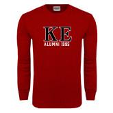 Cardinal Long Sleeve T Shirt-Greek Letters Alumni Year Personalized