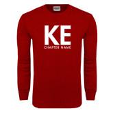 Cardinal Long Sleeve T Shirt-KE Chapter Name Personalized