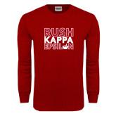 Cardinal Long Sleeve T Shirt-Rush Stacked