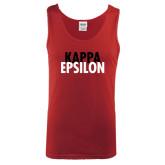 Cardinal Tank Top-Kappa Epsilon Stacked