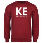 Cardinal Fleece Crew-KE Kappa Epsilon Stacked