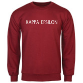 Cardinal Fleece Crew-Kappa Epsilon Flat