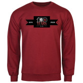 Cardinal Fleece Crew-100 Years Logo